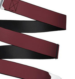 Buckle Down Belts Starburst Seatbelt Belt - Burgundy Webbing