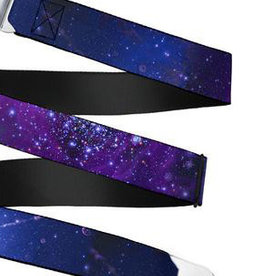 Buckle Down Belts Starburst Seatbelt Belt - Galaxy Blues/Purples Webbing