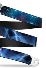 Buckle Down Belts Starburst Seatbelt Belt - Galaxy Swirl/Shining Stars Webbing