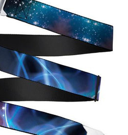 Buckle Down Belts Starburst Seatbelt Belt - Galaxy Swirl/Shining Stars Webbing