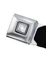 Buckle Down Belts Starburst Seatbelt Belt - Lucky Black/White Webbing
