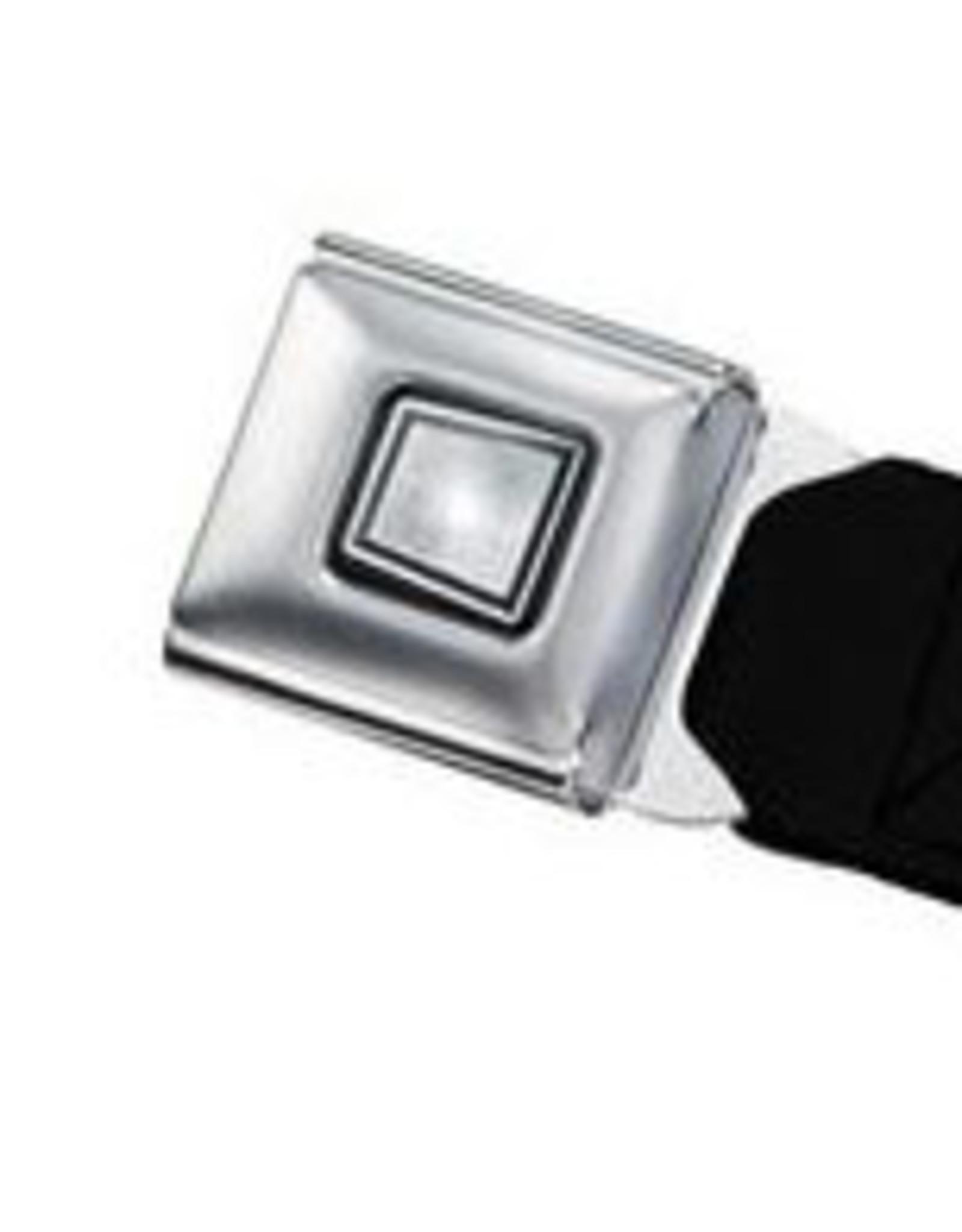 Buckle Down Belts Starburst Seatbelt Belt - Nautical Star Black/White Webbing