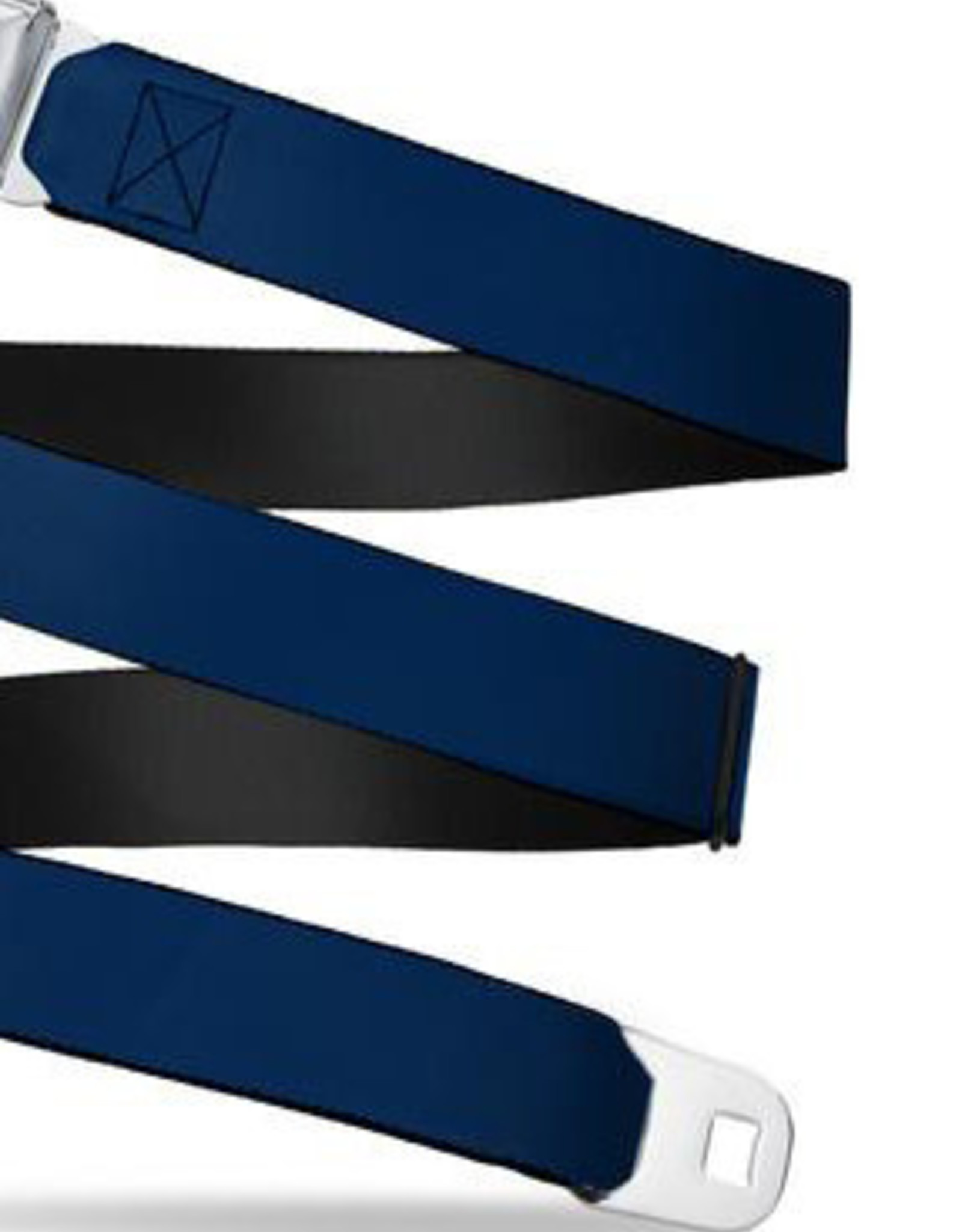 Buckle Down Belts Starburst Seatbelt Belt - Navy Webbing