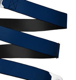 Buckle Down Belts Starburst Seatbelt Belt - Navy Webbing