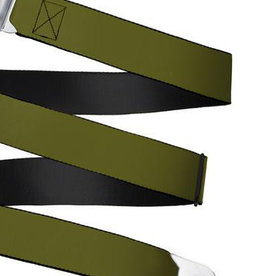 Buckle Down Belts Starburst Seatbelt Belt - Olive Webbing
