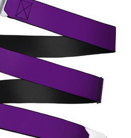 Buckle Down Belts Starburst Seatbelt Belt - Purple Webbing