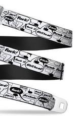 Buckle Down Belts Starburst Seatbelt Belt - Curse Bubbles Webbing