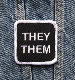 They/Them Patch - Double Denim Dude