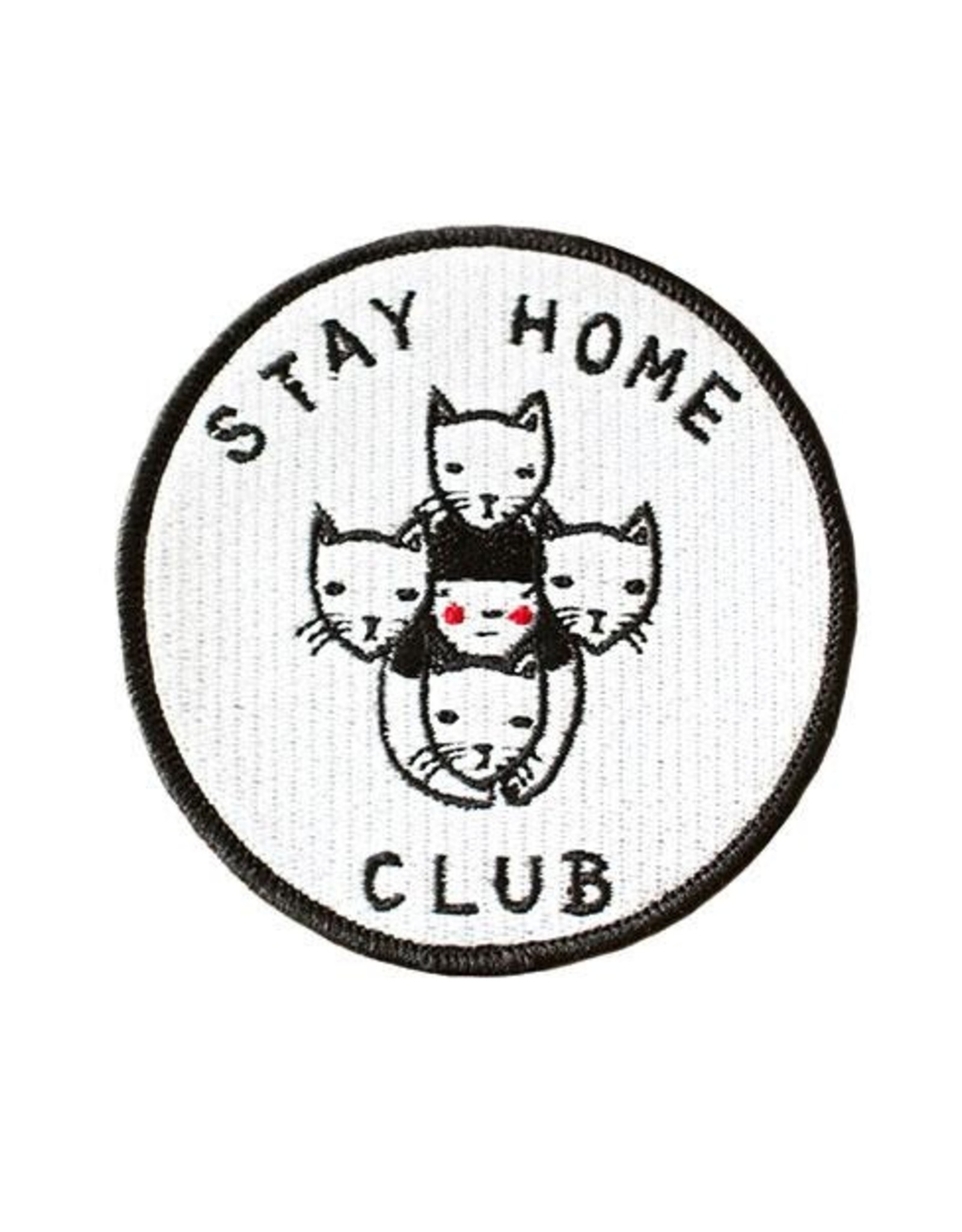 "Stay Home Club ""Stay Home Club"" Iron-On Patch by Stay Home Club"