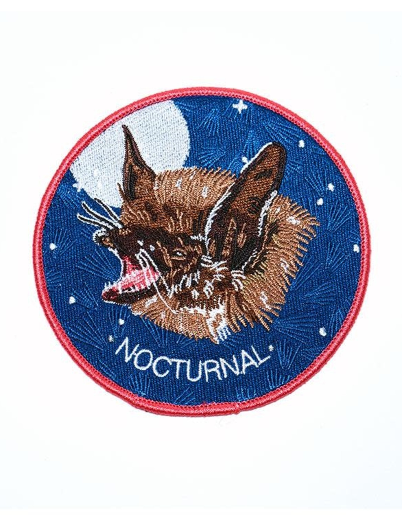 """Stay Home Club """"Nocturnal"""" Bat Iron-On Patch by Stay Home Club"""