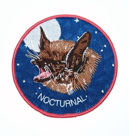 "Stay Home Club ""Nocturnal"" Bat Iron-On Patch by Stay Home Club"