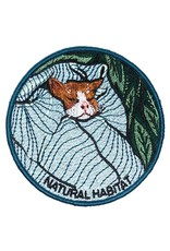 Stay Home Club 'Natural Habitat'' Cat Iron-On Patch by Stay Home Club