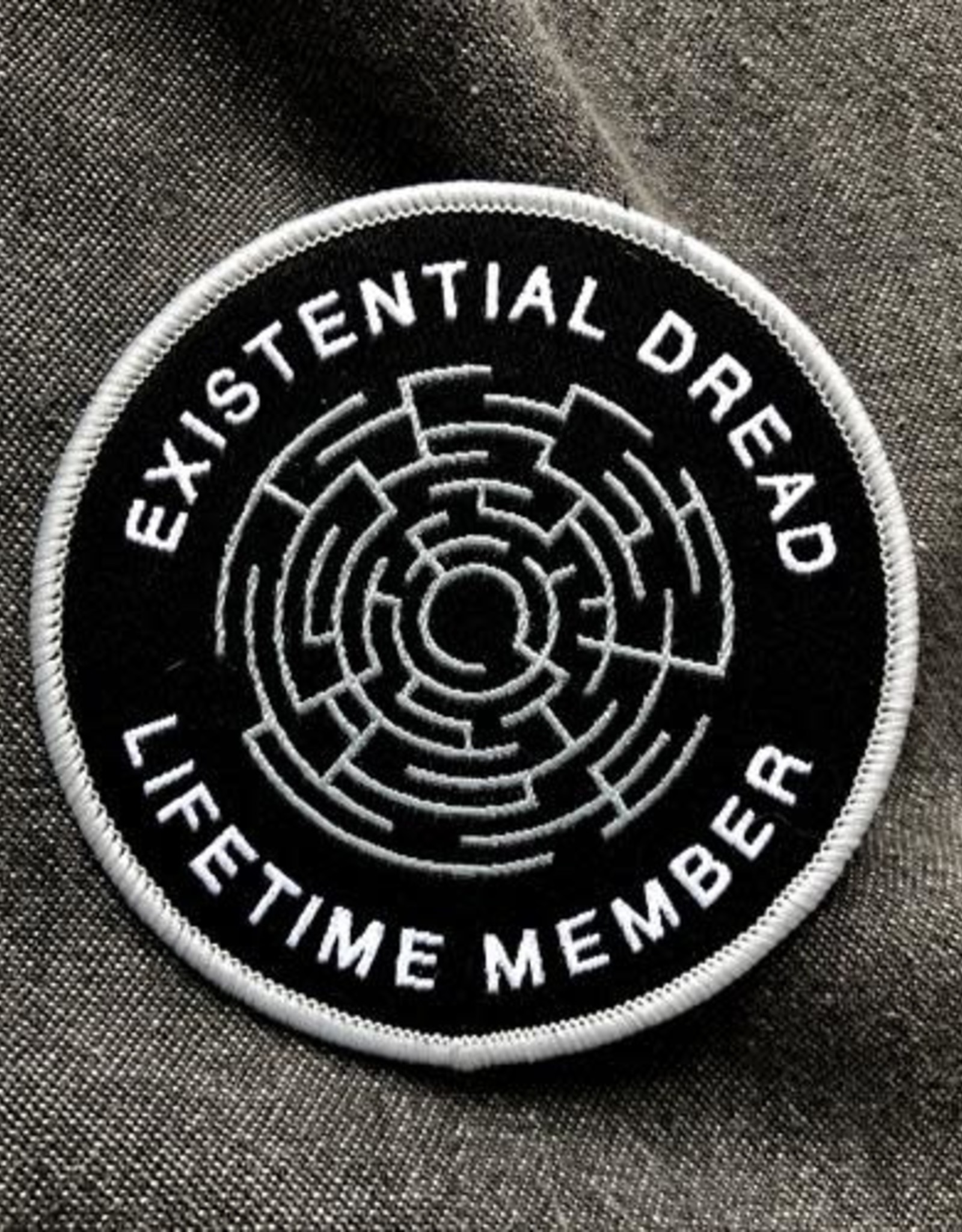 Print Ritual 'Existential Dread'' Embroidered Patch by Print Ritual