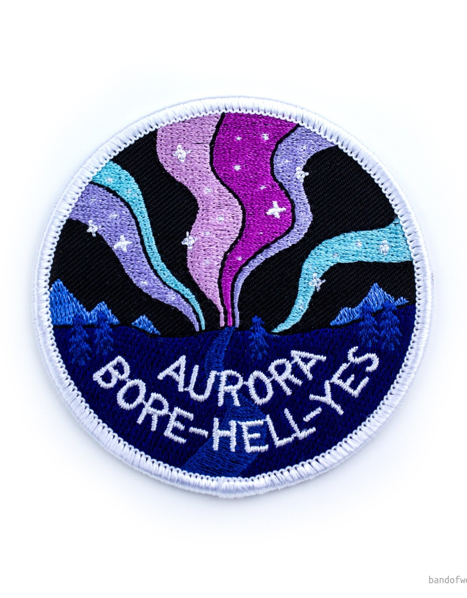'Aurora Bore-Hell-Yes'' Iron-on Patch - by Band of weirdos