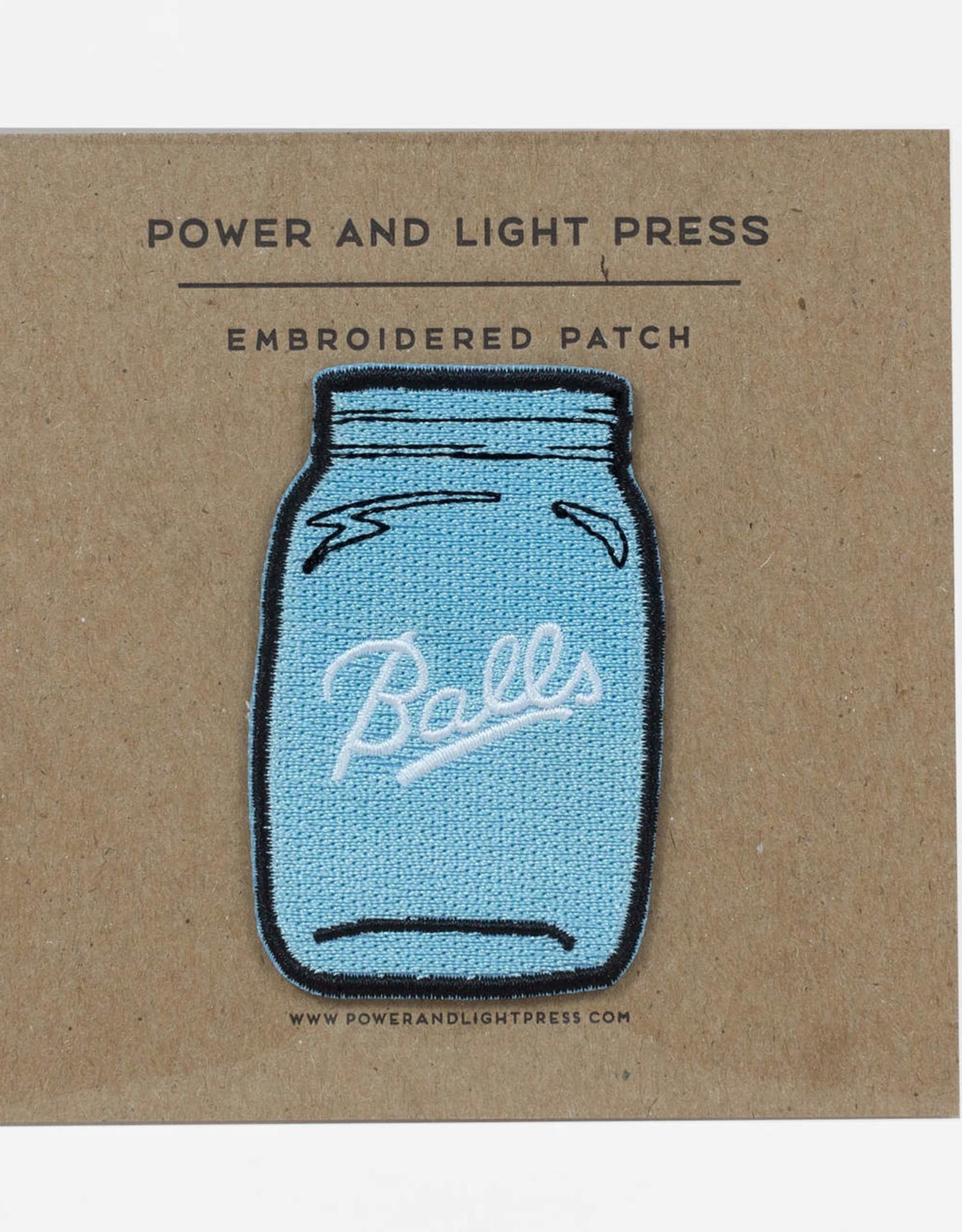 ''Balls'' Jar Patch - Power and Light Press
