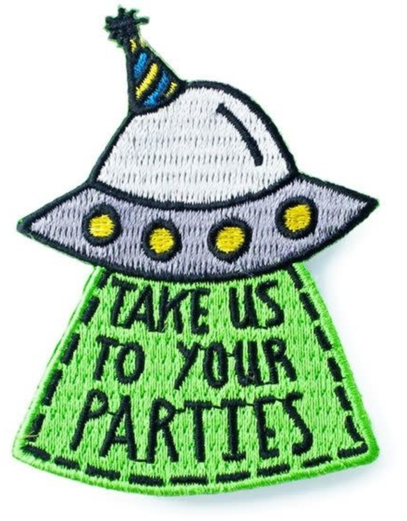 Valley Cruise Press ''Take us to your parties'' Iron on Patch by Valley Cruise Press