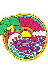 Valley Cruise Press ''Psychedelic Sunset'' Iron on Patch by Valley Cruise Press