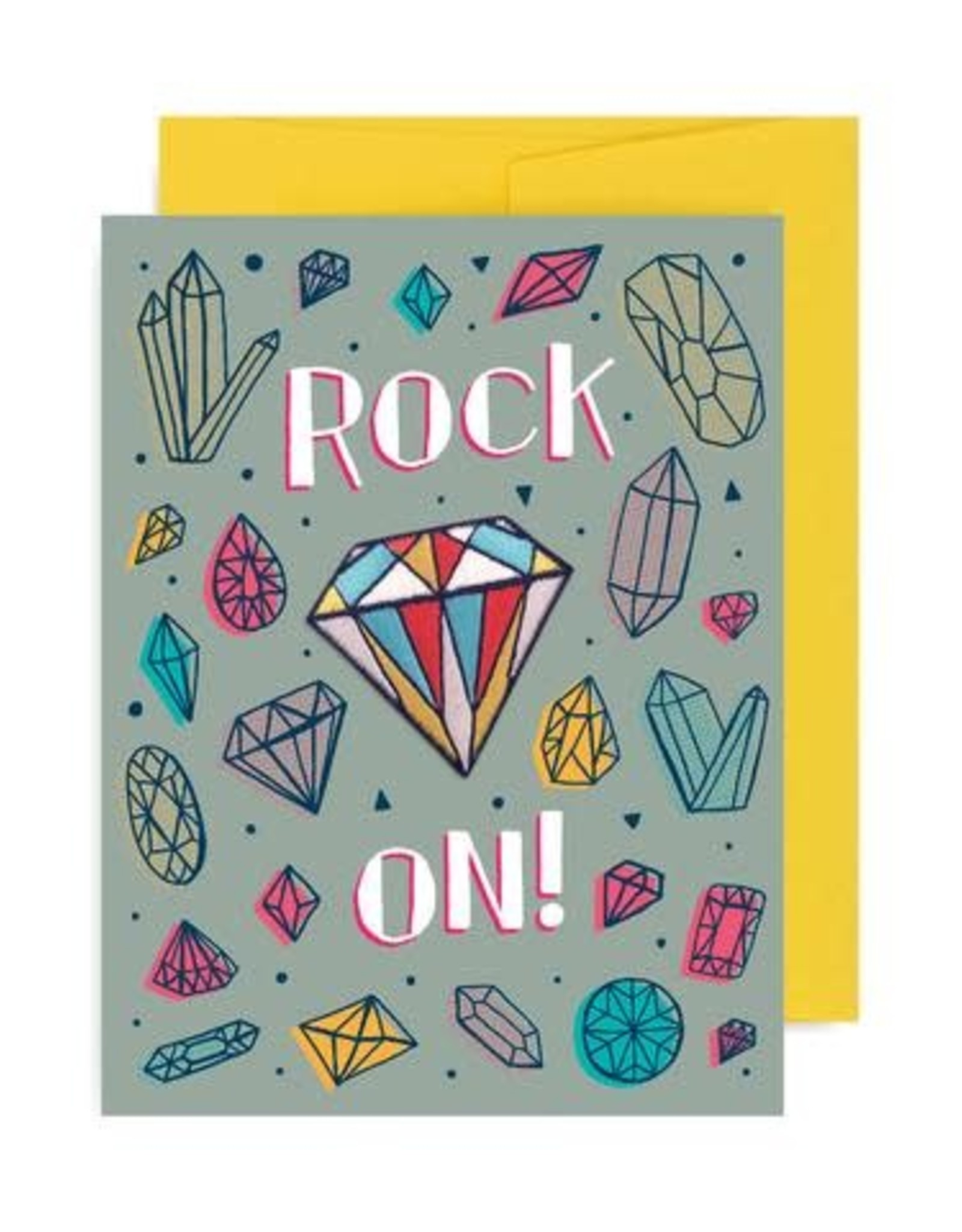 ''Rock On'' Greeting Card with Patch - Allison Cole