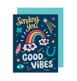 ''Good Vibes'' Greeting Card with Patch - Allison Cole