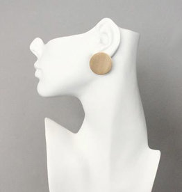 "David Aubrey 1"" Brass Circle Post Earrings - David Aubrey"