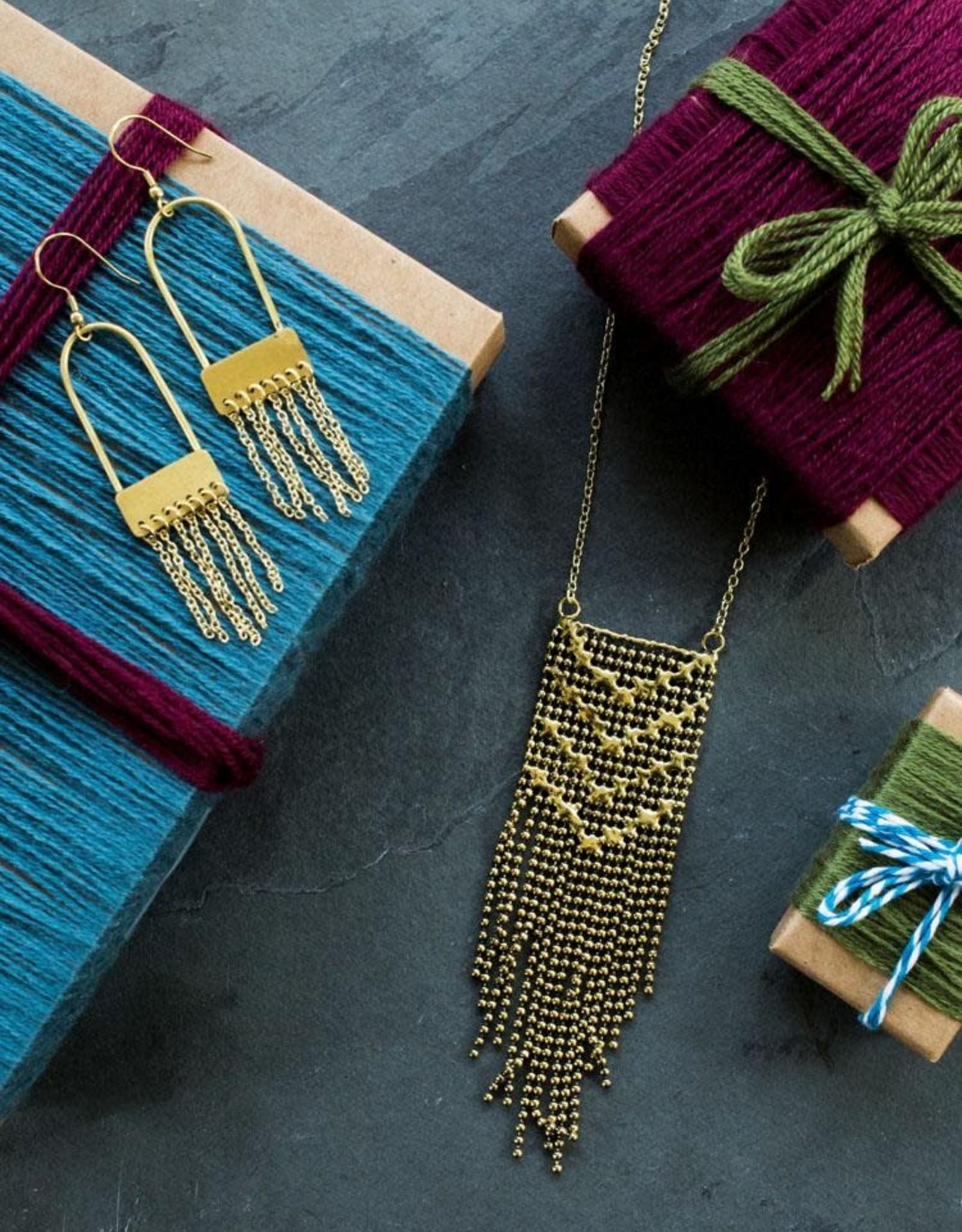 Mata Traders Metalwork Necklace, Gold  - Mata Traders