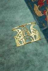 Mata Traders Deco Beam Cuff Bracelet, Gold - Mata Traders