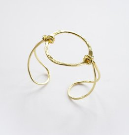 Mata Traders New Day Cuff, Gold - Mata Traders