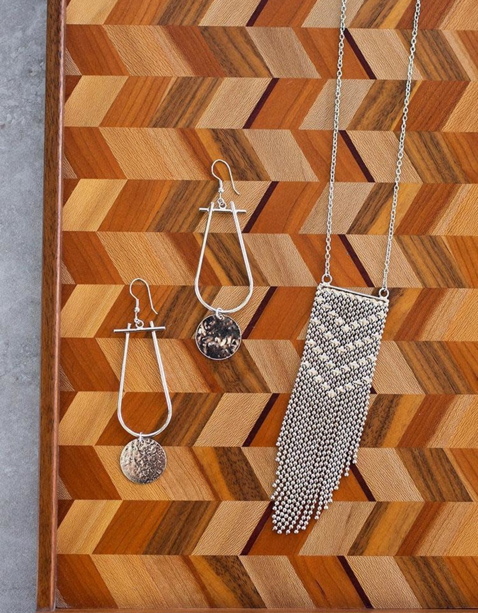 Mata Traders Metalwork Necklace, Silver - Mata Traders