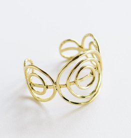 Mata Traders Spiral Cuff, Gold - Mata Traders