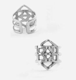 Mata Traders Essos Adjustable Ring, Silver - Mata Traders