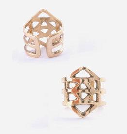 Mata Traders Essos Adjustable Ring, Gold - Mata Traders
