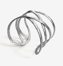 Mata Traders Criss-Cross Cuff Bracelet, Silver - Mata Traders
