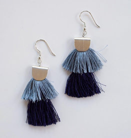 Mata Traders Blue Cozumel Tassel Earrings - Mata Traders