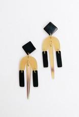 Mata Traders Shape Study Post Earrings, Horn - Mata Traders