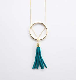 Mata Traders Ellaria Turquoise Tassel Necklace - Mata Traders