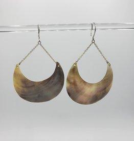 Shell Earrings crescent Moon