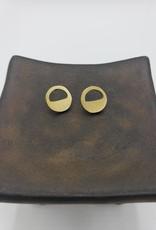 Amsha Eclipse Earrings Half Filled Circle Studs