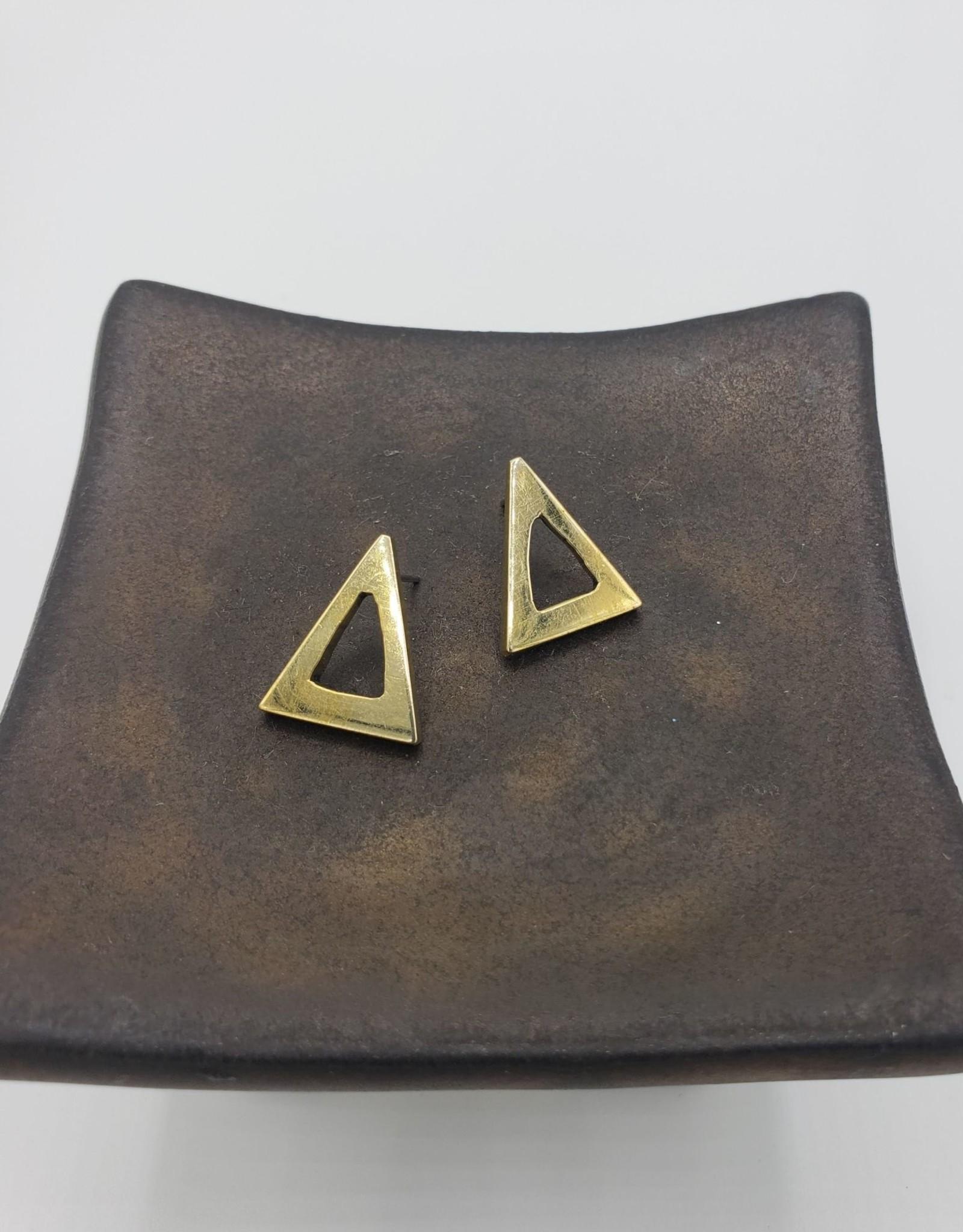 Amsha Triangle Cutout Stud Earrings
