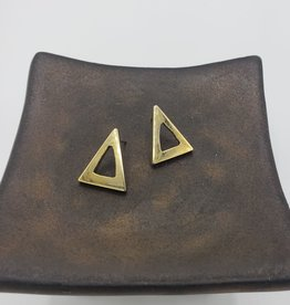 Amsha Triangle Cutout Stud Earrings