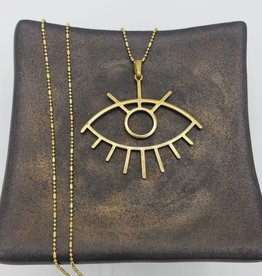 Boho Gal Jewelry Flora Eye Charm Necklace