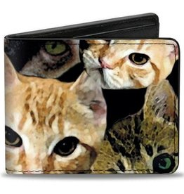Buckle Down Belts Kitten Faces Bi-Fold Vinyl Wallet