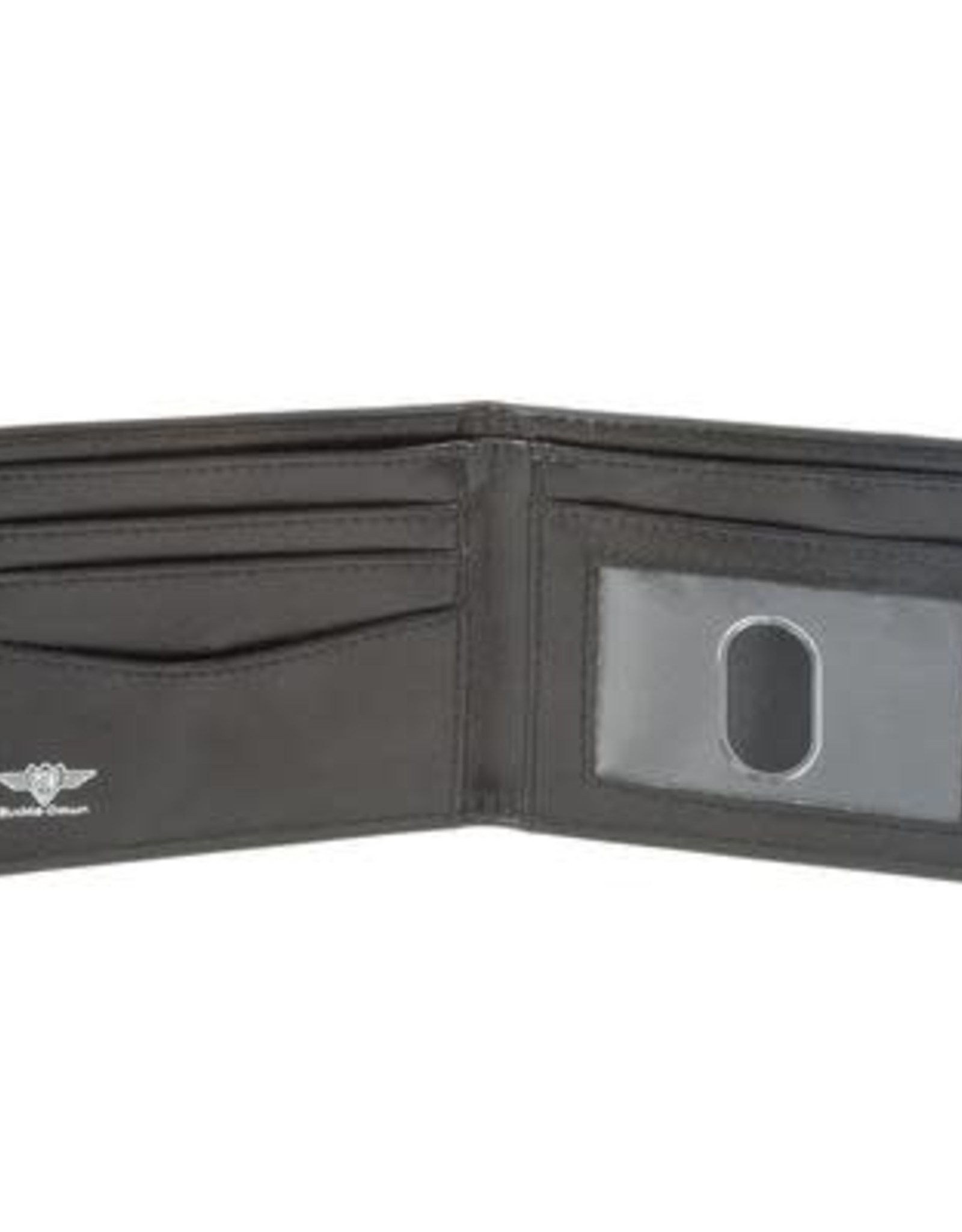 Buckle Down Belts Robot Checkered Bi-Fold Vinyl Wallet - Black/White