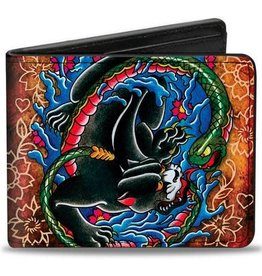 Buckle Down Belts Panther Bi-Fold Wallet - art by Tattoo Johnny