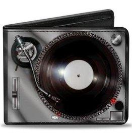 Buckle Down Belts Turntables - Bi-Fold Vinyl Wallet