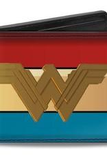 Buckle Down Belts Wonder Woman Icon 2017 - Bi-Fold Vinyl Wallet with Stripes
