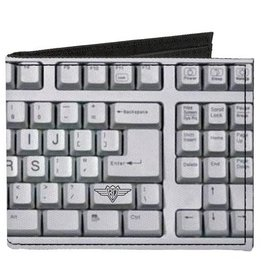Buckle Down Belts Computer Keyboard Bi-Fold Vinyl Wallet