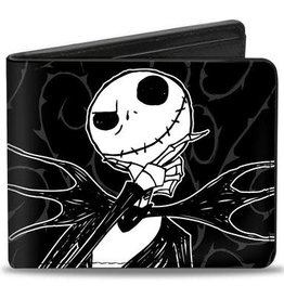 Buckle Down Belts Jack Skellington Thinking - Bi-Fold Vinyl Wallet