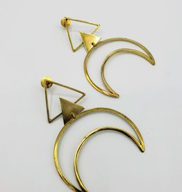 Boho Gal Jewelry Eka Crescent Moon Earrings
