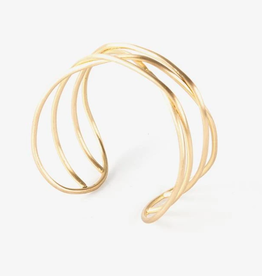 Mata Traders Cohesion Cuff Bracelet, Gold - Mata Traders