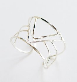 Mata Traders Peaks and Valleys Cuff Bracelet, Silver - Mata Traders